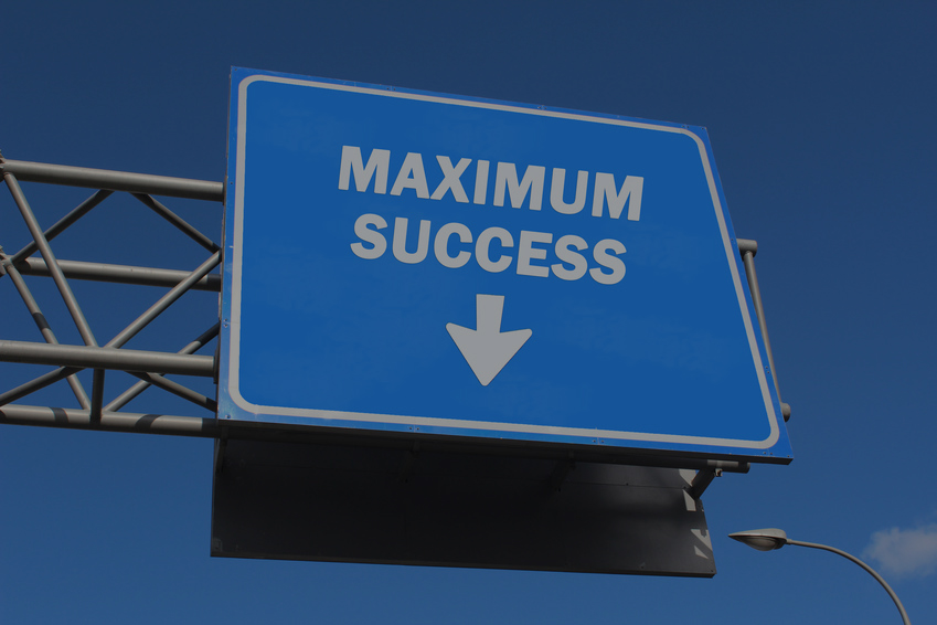 Highway sign - Maximum Success